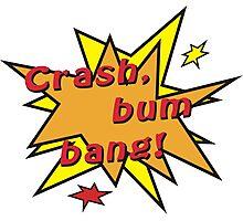 Crash bum bang comic Photographic Print