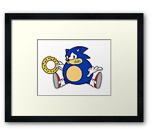 Sonic the Hog Framed Print