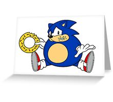 Sonic the Hog Greeting Card