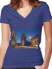 Bristol Pride Women's Fitted V-Neck T-Shirt