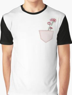 And a Pink Carnation... Botanical Graphic T-Shirt