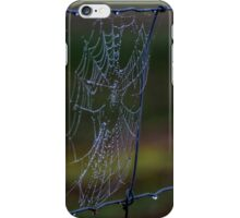 Fence Web in the Morning Dew iPhone Case/Skin