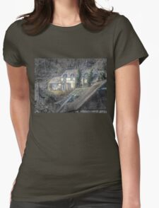 Welsh Cottage Womens Fitted T-Shirt