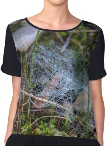 Dewy Ground Web Chiffon Top