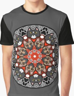 Pet Circle - GSD and Tuxedo cat Graphic T-Shirt