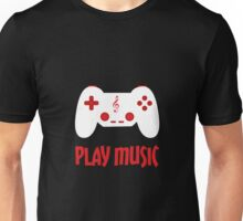 Play music (black background) Unisex T-Shirt