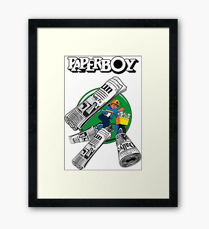 PAPERBOY RETRO ARCADE GAME Framed Print