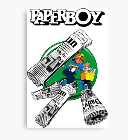 PAPERBOY RETRO ARCADE GAME Canvas Print