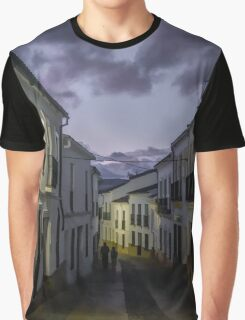 Typical Spanish village street at dusk Graphic T-Shirt