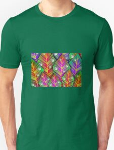 Leaves with raindrops Unisex T-Shirt