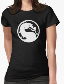 White Dragon Womens Fitted T-Shirt