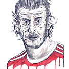 Gareth Bale by Calum Margetts Illustration