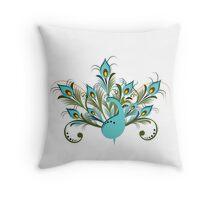 Just a Peacock - Tee Throw Pillow