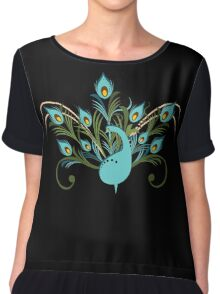 Just a Peacock - Tee Chiffon Top