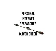Personal internet researcher to Oliver Queen  by echorose