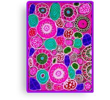"""""""PINK PASSION"""" Abstract Flower Print Canvas Print"""