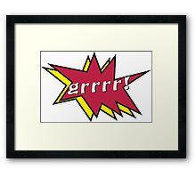 Grrr comic Framed Print