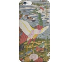 ITO Jakuchu - Animals in the Flower garden.  Japanese Landscape  iPhone Case/Skin