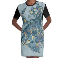 Bluebird Graphic T-Shirt Dress