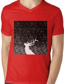 Oh Deer in B&W Mens V-Neck T-Shirt