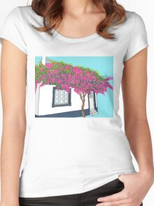A little house in Portugal Women's Fitted Scoop T-Shirt