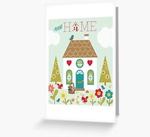 New Home greetings card inspired by Little Red Riding Hoods adventures Greeting Card