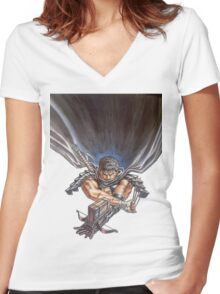 Berserk #03 Women's Fitted V-Neck T-Shirt