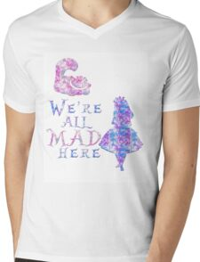 Pink and purple all mad Mens V-Neck T-Shirt