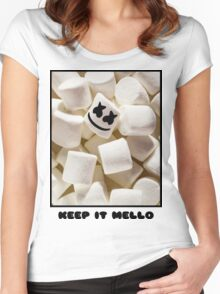MARSHMELLO KEEP IT MELLO Women's Fitted Scoop T-Shirt