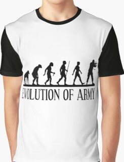 Evolution of army, Funny Human Evolve Graphic T-Shirt