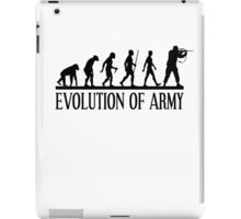 Evolution of army, Funny Human Evolve iPad Case/Skin
