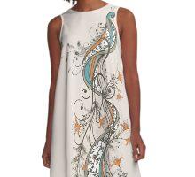 Peacock A-Line Dress