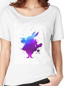 Purple splatter Mr Rabbit Women's Relaxed Fit T-Shirt