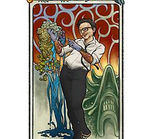 Newt Geiszler, Mucha Style! by Sarah Myer