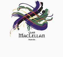 Clan MacLellan - Prefer your gift on Black/White tell us at info@tangledtartan.com  Unisex T-Shirt