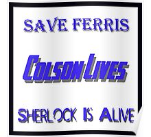 Ferris Colson Sherlock Geek Support Poster
