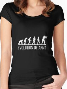 evolution of army Women's Fitted Scoop T-Shirt