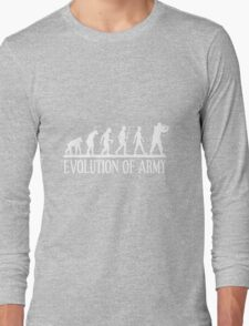 evolution of army Long Sleeve T-Shirt
