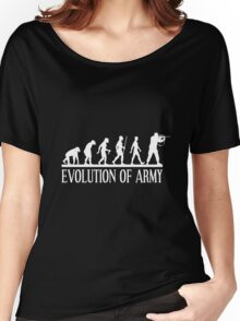 evolution of army Women's Relaxed Fit T-Shirt