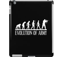 evolution of army iPad Case/Skin