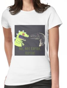 Raptor and Reptar Womens Fitted T-Shirt