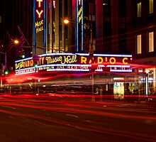 Radio City Hall at Night by JMChown