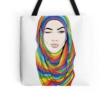 Rainbow Hijab Tote Bag