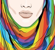 Rainbow Hijab Sticker