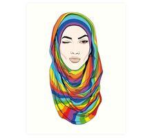 Rainbow Hijab Art Print