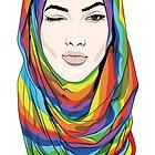 Rainbow Hijab by Lana Petersen