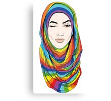 Rainbow Hijab Canvas Print