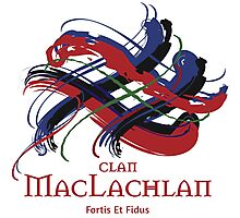 Clan MacLachlan - Prefer your gift on Black/White tell us at info@tangledtartan.com  Photographic Print