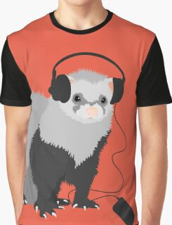 Funny Musical Ferret Graphic T-Shirt