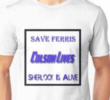 Ferris Colson Sherlock Geek Support Unisex T-Shirt